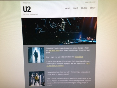 U2 email